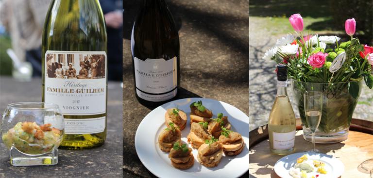 Triptyque vins Château Guilhem